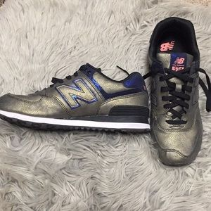 Gold and Blue New Balance 574
